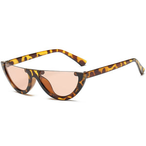 Half Frame Cat-eye Sunglasses