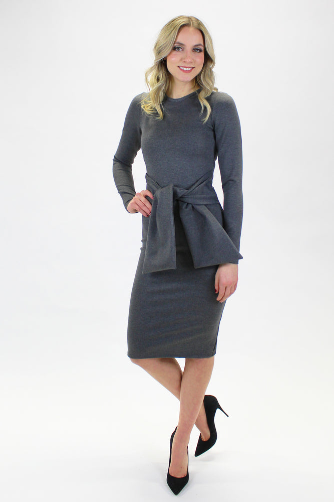 DIANE DRESS GRAY