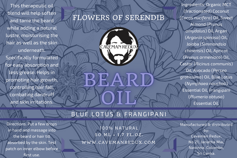 frangipani and lotus beard oil