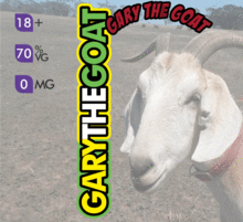 Crazy Goat Vapes - Gary The Goat