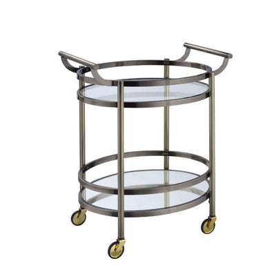 Acme Lakelyn Bronze Bar Cart-Acme-Happy Home Bars