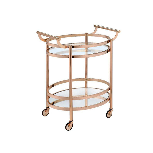 Acme Lakelyn Rose Gold Bar Cart-Acme-Happy Home Bars