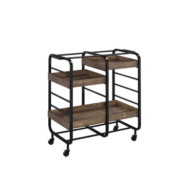 Acme Vorrik Black Bar Cart-Acme-Happy Home Bars