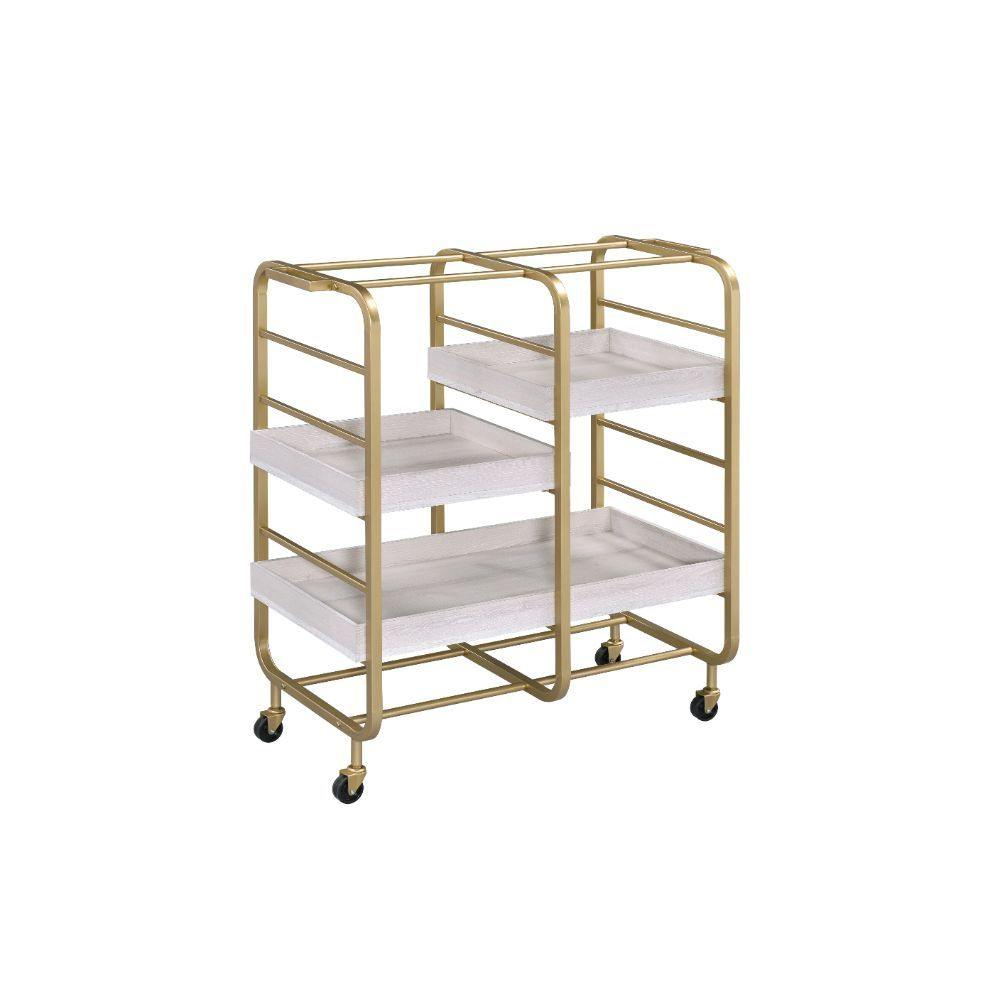Acme Vorrik Gold Bar Cart-Acme-Happy Home Bars