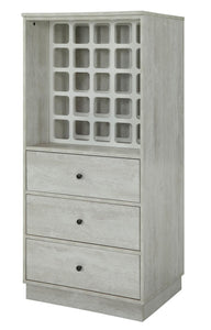 Acme Wiesta Wine Cabinet Antique White-Acme-Happy Home Bars