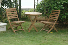 Anderson Teak Andrew 3 Piece Outdoor Round Bistro Set-Anderson Teak-Happy Home Bars