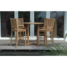 Anderson Teak Bahama Avalon Outdoor 5 Piece Table Set-Anderson Teak-Happy Home Bars