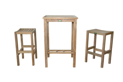 Anderson Teak Bahama Montego 3-Piece Square Bar Set-Anderson Teak-Happy Home Bars