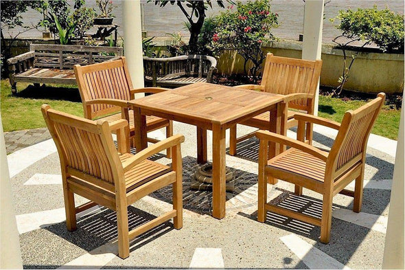 Anderson Teak Bahama Sahara 5-Pieces Bistro Table-Anderson Teak-Happy Home Bars