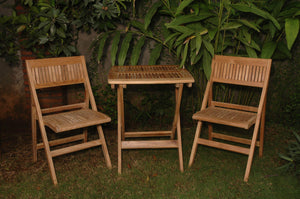 Anderson Teak Windsor 3 Piece Square Outdoor Bistro Set-Anderson Teak-Happy Home Bars