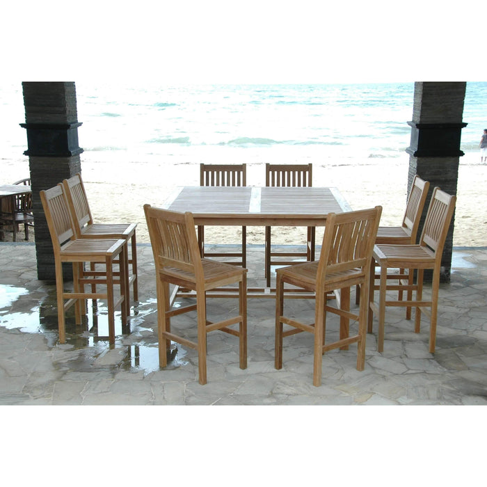 Anderson Teak Windsor Avalon 9-Pieces Square Bar Set-Anderson Teak-Happy Home Bars