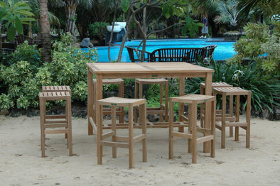 Anderson Teak Windsor Montego 9-Pieces Square Bar Set-Anderson Teak-Happy Home Bars