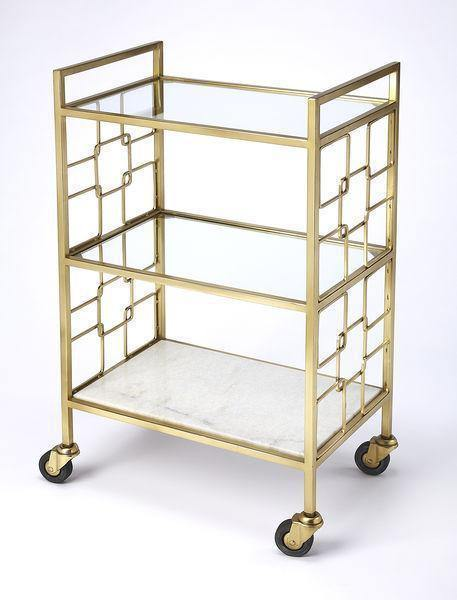 Butler Specialty Arcadia Polished Gold Bar Cart-Butler Specialty-Happy Home Bars