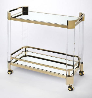 Butler Specialty Cherlevoix Gold Bar Cart-Butler Specialty-Happy Home Bars