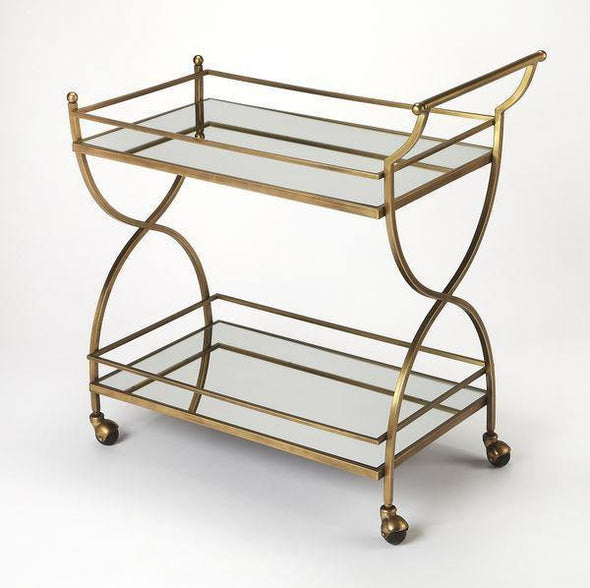 Butler Specialty Graci Antique Gold Bar Cart-Butler Specialty-Happy Home Bars
