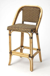 Butler Specialty Lila Brown Rattan Bar Stool-Butler Specialty-Happy Home Bars