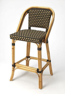Butler Specialty Lila Dark Brown Rattan Bar Stool-Butler Specialty-Happy Home Bars