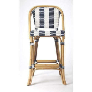 Butler Specialty Lila Stripe Bar Stool-Butler Specialty-Happy Home Bars