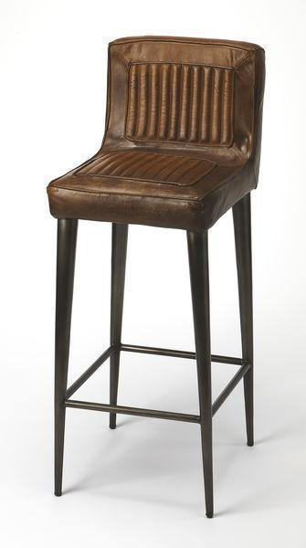 Butler Specialty Maxwheel Leather Bar Stool-Butler Specialty-Happy Home Bars