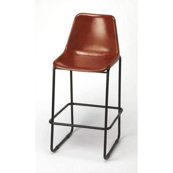 Butler Specialty Myles Leather Bar Stool-Butler Specialty-Happy Home Bars