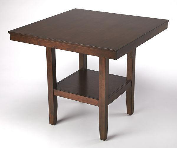 Butler Specialty Plato Dark Brown Counter Height Table-Butler Specialty-Happy Home Bars