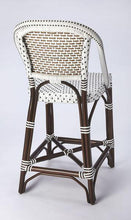 Butler Specialty Solstice White & Chocolate Rattan Counter Stool-Butler Specialty-Happy Home Bars