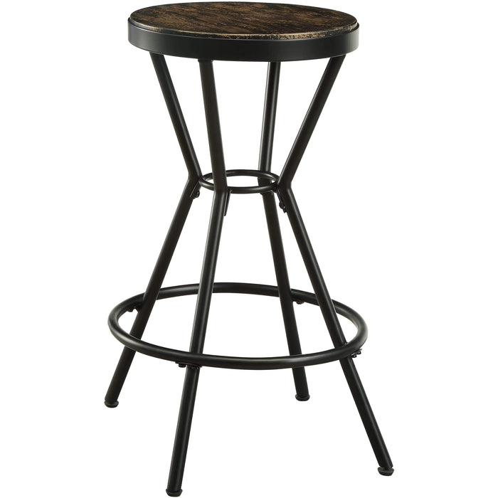 Furniture of America Blaney industrial bar stool (set of 2)-Furniture of America-Happy Home Bars