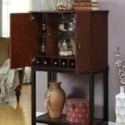 Furniture of America Copperfield Wine cabinet-Furniture of America-Happy Home Bars