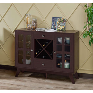 Furniture of America Elenor Wine Cabinet-Furniture of America-Happy Home Bars
