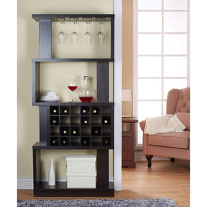 Furniture of America Gewirtz 4-Tier Wine Stand-Furniture of America-Happy Home Bars