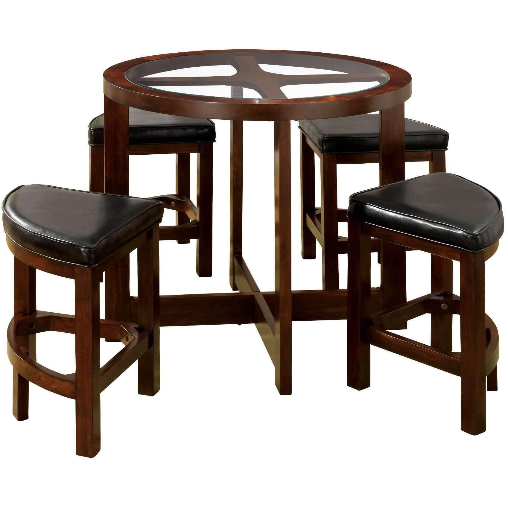 Furniture of America Lexi 5 piece Bar Table Set-Furniture of America-Happy Home Bars