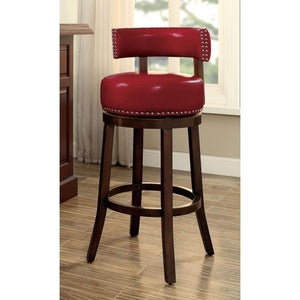 "Furniture of America Roos 24"" bar stool (set of 2)-Furniture of America-Happy Home Bars"