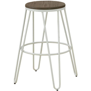 Furniture of America Talton Metal bar stool White-Furniture of America-Happy Home Bars