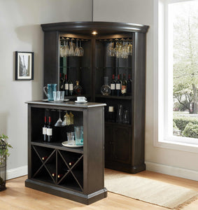 Furniture of America Voltaire Wine Cabinet-Furniture of America-Happy Home Bars