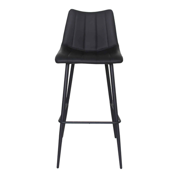 Moe's Home Collection Alibi Black Bar Stool (Set of 2)-Moe's Home Collection-Happy Home Bars