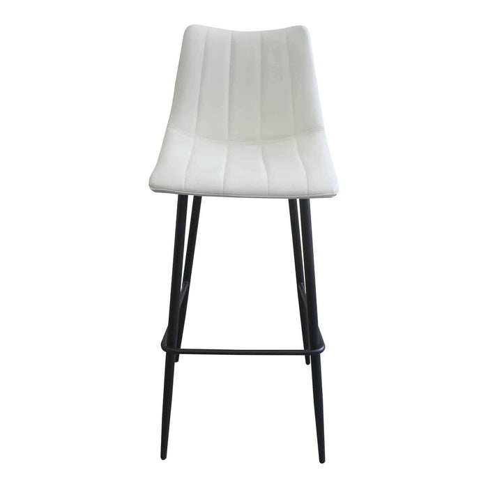 Moe's Home Collection Alibi Ivory Bar Stool (Set of 2)-Moe's Home Collection-Happy Home Bars
