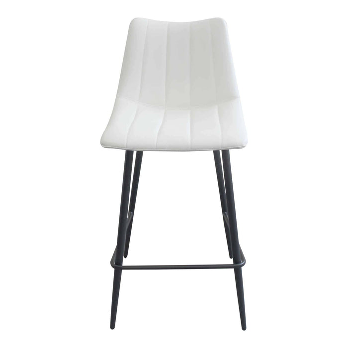 Moe's Home Collection Alibi Ivory Counter Stool (Set of 2)-Moe's Home Collection-Happy Home Bars