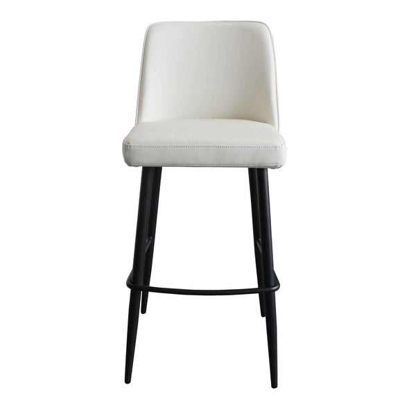 Moe's Home Collection Emelia Ivory Bar Stool-Moe's Home Collection-Happy Home Bars
