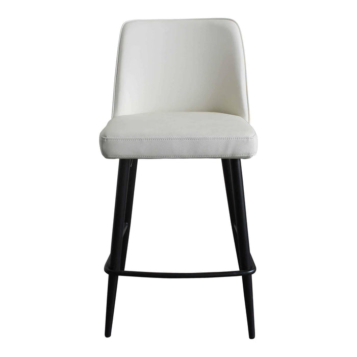 Moe's Home Collection Emelia Ivory Counter Stool-Moe's Home Collection-Happy Home Bars