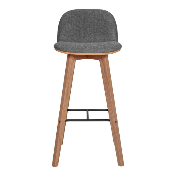 Moe's Home Collection Napoli Grey Bar Stool-Moe's Home Collection-Happy Home Bars
