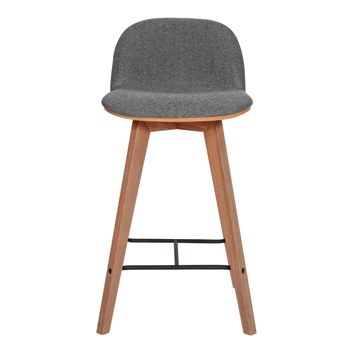 Moe's Home Collection Napoli Grey Counter Stool-Moe's Home Collection-Happy Home Bars