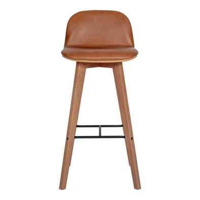 Moe's Home Collection Napoli Leather Bar Stool-Moe's Home Collection-Happy Home Bars