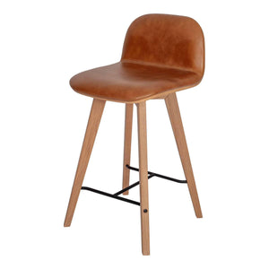Moe's Home Collection Napoli Leather Counter Stool-Moe's Home Collection-Happy Home Bars