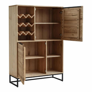 Moe's Home Collection Nevada Bar Cabinet-Moe's Home Collection-Happy Home Bars