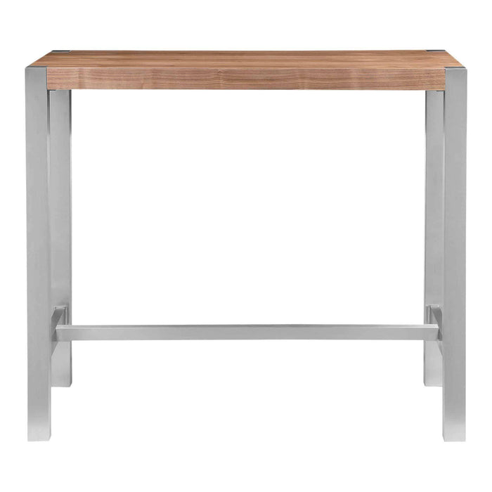 Moe's Home Collection Riva Walnut Bar Table-Moe's Home Collection-Happy Home Bars