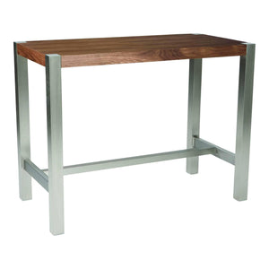 Moe's Home Collection Riva Walnut Counter Table-Moe's Home Collection-Happy Home Bars