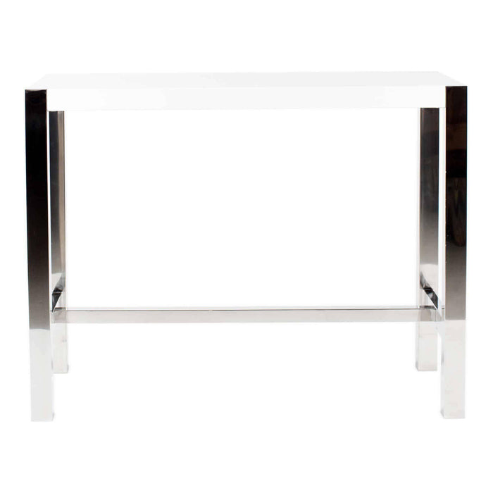 Moe's Home Collection Riva White Counter Table-Moe's Home Collection-Happy Home Bars