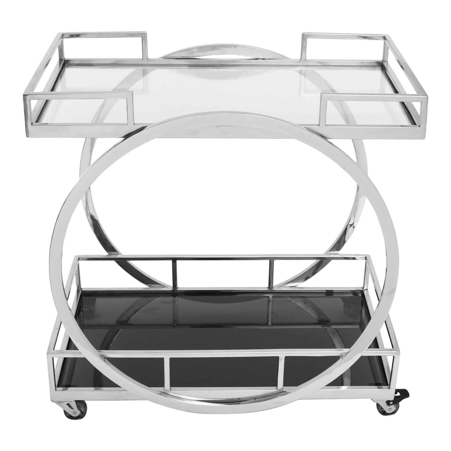Moe's Home Collection Shooter Bar Cart-Moe's Home Collection-Happy Home Bars