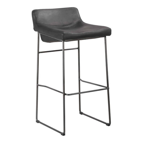 Moe's Home Collection Starlet Bar Stool | Black (Set of 2)-Moe's Home Collection-Happy Home Bars