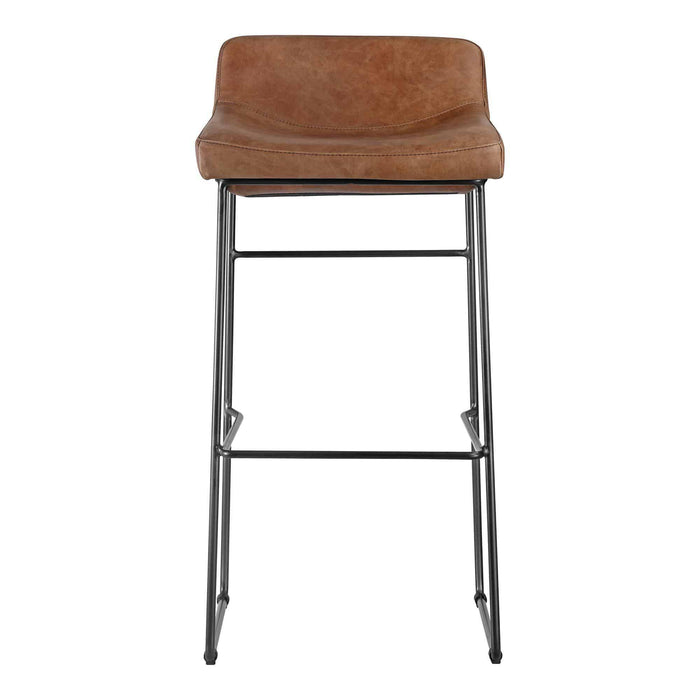 Moe's Home Collection Starlet Bar Stool | Cappuccino (Set of 2)-Moe's Home Collection-Happy Home Bars